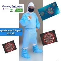 gown gaun protective apd alat pelindung diri XL