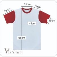 [TERMURAH] Kaos Polos Model Raglan Pendek Katun Cotton Combed 30s