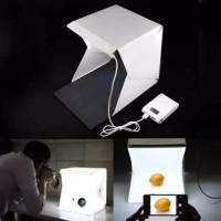 Mini Photo Studio Box Portable + Lampu LED Bisa di Lipat