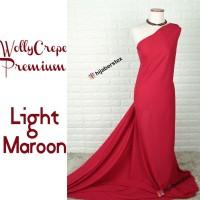 HijabersTex 1/2 Meter Kain WOLLYCREPE PREMIUM Light Maroon