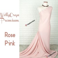 HijabersTex 1/2 Meter Kain WOLLYCREPE PREMIUM Rose Pink