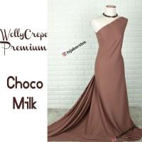 HijabersTex 1/2 Meter Kain WOLLYCREPE PREMIUM Choco Milk