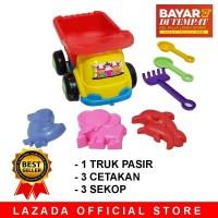 Mainan Mobil Truck Truk Pasir 1 set dengan cetakan dan sekop / mainan