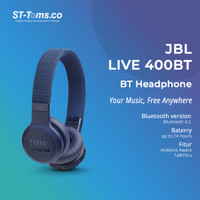 JBL Live 400BT / 400 BT Wireless On-Ear Headphone