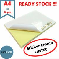 Kertas Stiker Chromo Glossy A4 - 50pcs / Kertas Stiker / Sticker Cromo