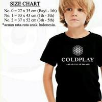 Baju Kaos Distro Anak Musik Band Coldplay Lengan Pendek Cowok Cewek