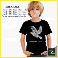 T-Shirt Kaos Anak Baju Distro Band Coldplay 1 BRG Hitam ot design