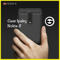CASE SLIM FIT IPAKY CARBON FIBER NOKIA 8