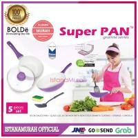 SH2815 SUPERPAN UNGU BOLDe SUPER PAN SET PURPLE Isi 5PC Granit series