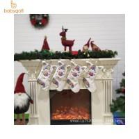 Ornamen Kaos Kaki Gantung Motif Unicorn untuk Hadiah Natal