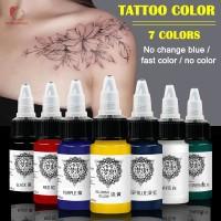 Digunakan 18ml Tinta Pigmen Tato Semi Permanen Mudah