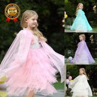 Jubah Princess Sequin untuk Kostum Pesta Ulang Tahun Anak Perempuan