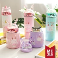 UNIDEER Termos Anak Unicorn Snow Globe 300ml Thermos Botol Air Minum