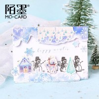 Cute Journal Mini Small Paper Diary Stationary Christmas Nordic Snow