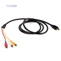 HDMI ke 3-RCA MA MA ✿ Kabel Adapter Konverter Audio Video AV