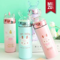 UNIDEER Termos Anak Unicorn Snow Globe 330ml Thermos Botol Air Minum