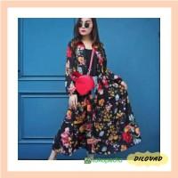 LONG TUNIK CARDIGAN BANGKOK/DRESS FLORAL IMPOR