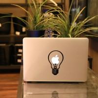 """ Bulb Stiker Vinyl Decal untuk Laptop Macbook Air / Pro 11 12 13 15"