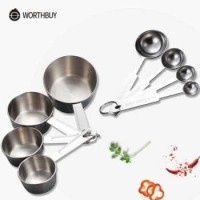 HOOMIN Sendok Takar Ukur Stainless Steel Measuring Spoon 8 PCS - 16780