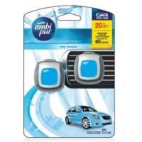 Ambipur Mini Clip 2 x 2 mL Sky Breeze Ambi Pur Pengharum Mobil .