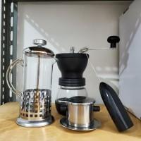 Ready Stock Coffee Maker Set. Coffee Grinder, French Press, Vietnam
