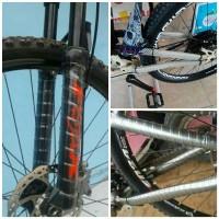 Karet Pelindung fork dan frame sepeda