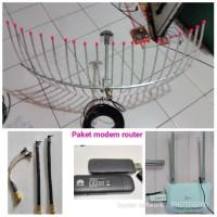 paket router modem Antena yagi grid 3G 4G tplink MR3420 huawei e3372