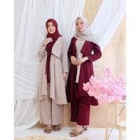 Diskon Baju Muslim Gamis Wanita Fashion Lebaran Model Baru Murah
