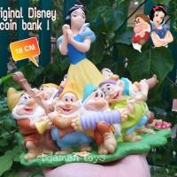 Figure Celengan coin Dekorasi Snow White Seven Dwarfs Original Disney