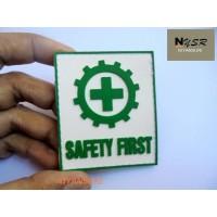 Patch rubber logo K3 - Safety first