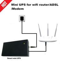 Smart Portable UPS 12V 2A 2000mAh Power Bank Router CCTV WIFI