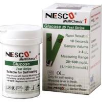 Strip Nesco Gula darah / Stik Nesco Gula darah Strip / Glucose Nesco