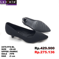 Laviola Shoes - Pantofel Shoes Wanita - 2476 FFS Black