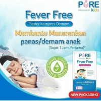 PURE KIDS FEVER FREE COOLING PATCH GEL 4 SHEETS