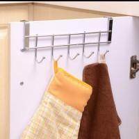 DOOR HOOK gantungan dipintu 5kaitan serbaguna/hanger stainless