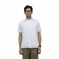 Daily Outfits Kemeja Lengan Pendek Pria Katun Slimfit Putih Unisex