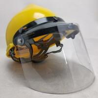 Helm face shield Apd kuning untuk proyek safety helmet blue eagle - Biru