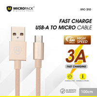 MicroPack USB A to micro USB cable 1 Meter MC-310