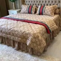 sprei single katun lokal super adem motif gucci