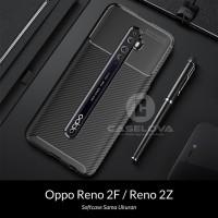 Case OPPO Reno2 F Reno 2F 2Z Synthetic Fiber Protective Carbon
