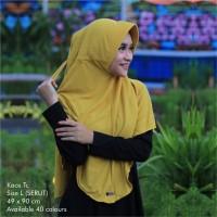 Hijab instan kerudung bergo kaos jilbab serut polos pet antem ukuran L