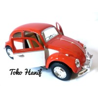 Diecast miniatur replika mobil antik VW beetle