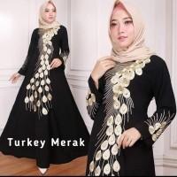 Abaya hitam arab gamis turki jubah hitam baju muslim wanita