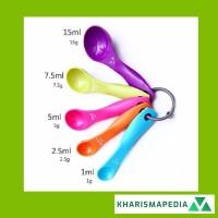 Plastic Measuring Spoons / Sendok Ukur Takar Plastik - 5 Pcs