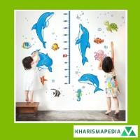 Sticker Dinding Pengukur Tinggi Badan Karakter / Grow Up Wall Sticker