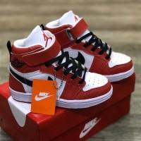 Sepatu Anak Nike Air Jordan Hi Red White Grade Original - 25, Merah