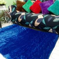 Karpet bulu rasfur lembut warna navy