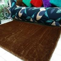 Karpet bulu rasfur warna Coklat