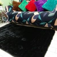 karpet bulu rasfur warna hitam