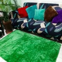 Karpet bulu rasfur warna hijau